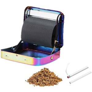 Metal Automatic Cigаrеttе Tοbаccο Smοκing Roller Machine,Automatic Rolling Box Gift for Men & Women (C)
