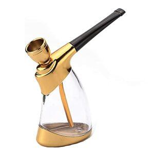 Mini filtre tuyau de narguilé, narguilé portable avec tuyau et accessoires de chicha, taille de poche mini tuyau d'eau, accessoires de mini chicha comme cadeaux pour petit ami, mari, père ou amis