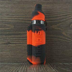 ORIN Smok Thallo S – Coque en silicone texturé pour Smok Thallo S – Antidérapant – Noir et rouge