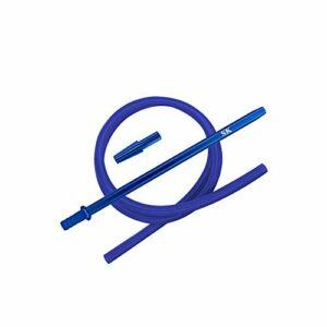 Shisha King® Kit de tuyau en silicone avec embout et embout – pour tous les sifflets à eau – accessoires de narguilé de qualité supérieure bleu