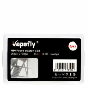 Vapefly Prebuild Ni80 Fused Clapton Coil 0.3 Ohm