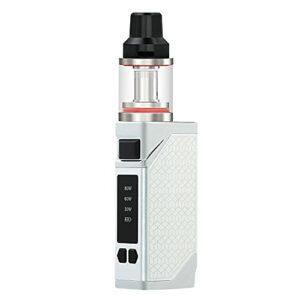 80W E Cigarette Electronique, Ruissance Réglable E-cigarette, Avec 2200mAh Batteries 2ml Atomizateur Coil Vape Box, Sans Nicotine Ni Tabac (Argent)