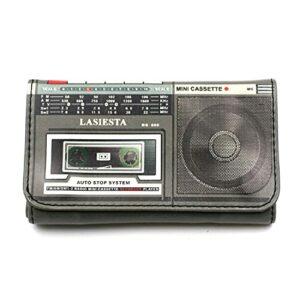 Blague à Tabac Similicuir Feuille Courte modèle Radio Cassette