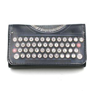 Blague à Tabac Similicuir Feuille Slim modèle Machine à écrire