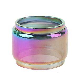 Denghui-ec 1PC Rainbow Color Pyrex Tube en Verre de Verre en Verre FIT pour Kylin V2 RTA Tank (Couleur : Multi)