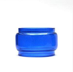 Denghui-ec Tube en Verre Pyrex de Remplacement 1pc / Arc-en-Ciel Coupe colorée pour Smok Tfv18 Tank 7,5 ML Ajustement pour Morph 2 Kit Mod (Couleur : Blue)