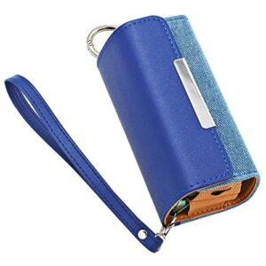 DrafTor Étui à cigarette pour i-q-o-s 3.0, étui en microfibre PU cuir avec couverture magnétique et connecteur, sans nicotine