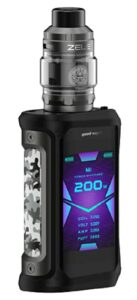 Geekvape Aegis X Zeus Kit 200W Vape Mod alimenté par une double batterie Fit 510 filetage atomiseur Zeus Subohm Vape pour Subohm Vaping
