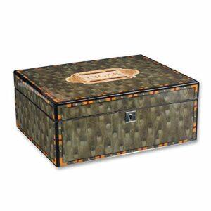 LONGWDS Etui à cigares Cigar Cabinet avec humidificateur et hygromètre importés de bois de cèdre Creative Cave à Cigares Piano Peinture Seal grande capacité étui à cigarettes Coffret Cadeau Homme 40 b