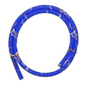 Luna Hookah Tuyau en silicone pour narguilé Bleu/doré