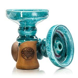 ORACLE HOOKAH® Tête de chicha Phunnel – En argile de qualité supérieure – Pour boîte à fumée HMD et HMD – Vert turquoise