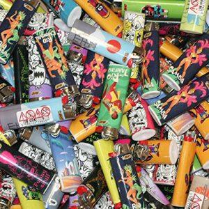 Tabac du Bassigny Lot de 10 Briquets Bic Maxi J26 Dépareillés – Décors Mélangés