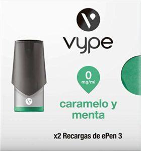 VYPE Recharges de Caramel et Menthe x2 pour cigarette électronique