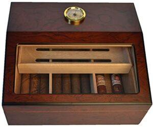 X&Y Humidors de cigares, Boîte à cigares de Style européen, humidificateur de cigares, boîte de Cigare-Cadeau de boîte de Bureau Whumidificateur, Jeu de Cadeau de cigares humides élégants, Marron