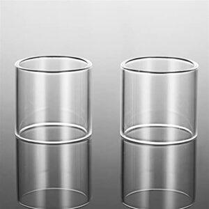 2 pcs tube en verre apte à SmokTech OSCILLER Plus Fit Alien 220W pour le maréchal G320 G150 Guardian III Vénéno MAG P3 UE Kit édition standard (Couleur : Fit for Alien 220W KIT 3ml, Taille : 2pcs)