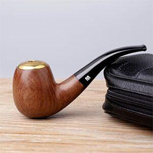 BILXXY Pipe à Tabac détachable, Pipe à Tabac en Bois Massif Pipe à Cigarettes Cigare sculptée à la Main pour Les Femmes, Les Hommes et Tous Les Fumeurs