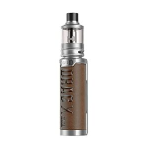 (Edition Professionnelle) VOOPOO Drag X Plus Box Kit 100W 5.5 ML Complet Cigarette Electronique Kit -Pas de batterie, Sans e liquide, Sans nicotine (Silver+Retro Brown)