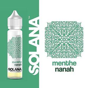 menthe nanah 50ml – solana – Sans Tabac – Sans Nicotine