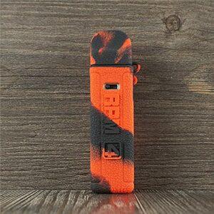 ORIN Smok RPM 4 Coque, texture en silicone pour Smok RPM 4 Housse antidérapante pour protection de peau (noir/rouge)