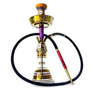 XHXH Kit de fumage portable avec tous les accessoires pour chicha – Roman et luxe unique – Démarrage de voyage – Violet