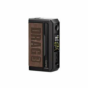 Vooopoo DRAG 3 MOD TC 177W Boîte à cigarettes électronique MOD Support de vape Cartouche TPP Pnp Pod TPP-DM1 Vaporisateur TPP-DM2 (Sandy Brown)