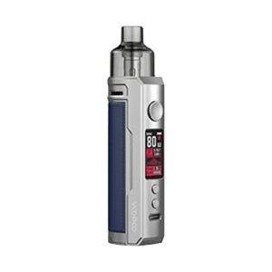 VOOPOO Drag X Mod Pod Kit E-cig Cigarette électronique 80W 4.5ml PnP Pod Réservoir GENE.TT Puce Vaporisateur Pod Système Vape Kit (Sliver Blue)