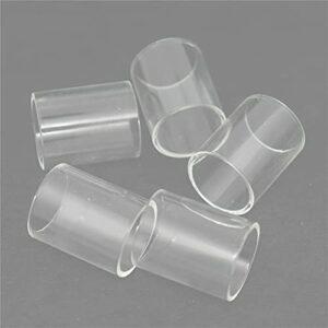 5pcs droites mini gobelets en verre convient à Skystar Speaker Typhon Fit for Revvo TPD Tank Fit for feedLink Squonk Kit tube de verre ( Couleur : 5PCS , Taille : Fit for Feedlink Squonk 2ml )