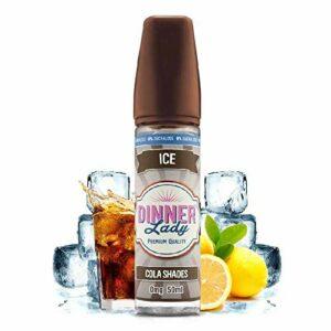 Cola Shades 50ml Ice 0% Sucralose – Dinner Lady – Sans tabac ni nicotine – Vente interdite aux personnes âgées au de moins de 18 ans – 0 MG – Genre : 40-70 ml