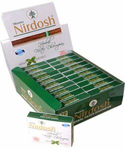 NIRDOSH Lot de 20 paquets de cigarettes sans nicotine ni tabac avec filtre