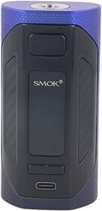 SMOK RIGEL Box Mod 230W avec écran couleur TFT de 0,96 pouce TFT Chipset Cigarette électronique Rigel Mod sans tabac Compatible avec le réservoir TFV9 (Noir Bleu)
