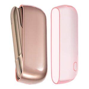 Coque Compatible avec Iqos 3 en silicone TPU Imperméable et Anti-chute et Anti-vibration Portable Protège Efficacement Cigarettes Electroniques Rose