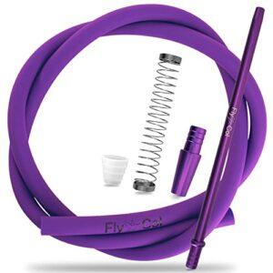 FlyCol Kit de tuyau de narguilé universel pour tous les narguilés – Tuyau en silicone avec embout buccal (violet)