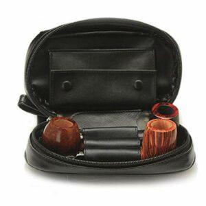 K99 Étui en Cuir de Tuyau de Tabac – Sac à Tuyau de Vachette Authentique à Deux Couches – pour Porte-Tabac 3 Tobacco et Autres Accessoires